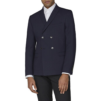 Image of Ben Sherman Australia  NAVY TEXTURE COTTON JACKET