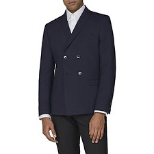 Image of Ben Sherman Australia NAVY NAVY TEXTURE COTTON JACKET