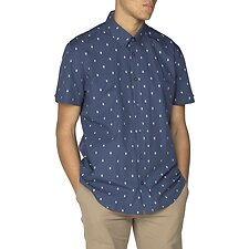 Image of Ben Sherman Australia DARK BLUE ICE LOLLY GEO SHIRT