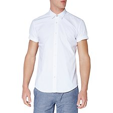 Image of Ben Sherman Australia BRIGHT WHITE CHAMBRAY SOHO SHIRT
