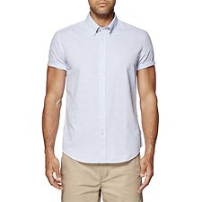 Image of Ben Sherman Australia BRIGHT BLUE TEXTUTRED END ON END SOHO SHIRT