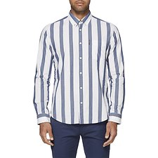 Image of Ben Sherman Australia BLUE LARGE STRIPE MOD SHIRT
