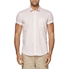 Image of Ben Sherman Australia DUSTY PINK LEAF PRINT SOHO SHIRT