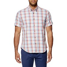 Image of Ben Sherman Australia SKY BLUE MULTI CHECK MOD SHIRT