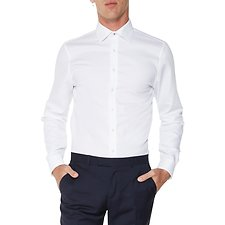 Image of Ben Sherman Australia BRIGHT WHITE BASKET WEAVE KINGS  SHIRT