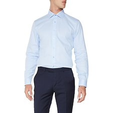 Image of Ben Sherman Australia LIGHT BLUE DASH WEAVE KINGS  SHIRT