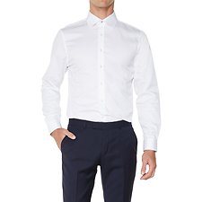 Image of Ben Sherman Australia BRIGHT WHITE HONEYCOMB CAMDEN  SHIRT