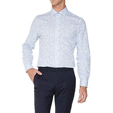 Image of Ben Sherman Australia LIGHT BLUE SHADOW FLORAL KINGS  SHIRT