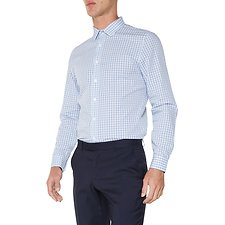 Image of Ben Sherman Australia BLUE MULTI GINGHAM CAMDEN  SHIRT