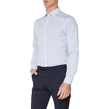 Image of Ben Sherman Australia BLUE WINDOW CHECK KINGS  SHIRT