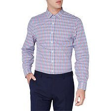 Image of Ben Sherman Australia BLUE STRIPE GINGHAM CAMDEN  SHIRT