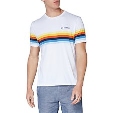 Image of Ben Sherman Australia BRIGHT WHITE MULTI STRIPE T-SHIRT