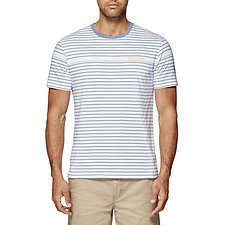 Image of Ben Sherman Australia PARISIAN BLUE STRIPE T-SHIRT