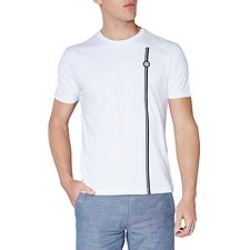 Image of Ben Sherman Australia BRIGHT WHITE MOD STRIPE T-SHIRT
