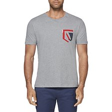 Image of Ben Sherman Australia SILVER CHALICE MARL UNION JACK POCKET T-SHIRT