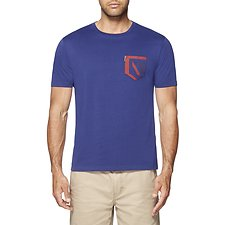 Image of Ben Sherman Australia BLUE DEPTHS UNION JACK POCKET T-SHIRT