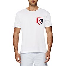 Image of Ben Sherman Australia BRIGHT WHITE UNION JACK POCKET T-SHIRT
