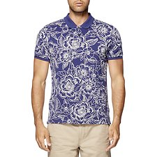 Image of Ben Sherman Australia  ALL OVER FLORAL OUTLINE POLO