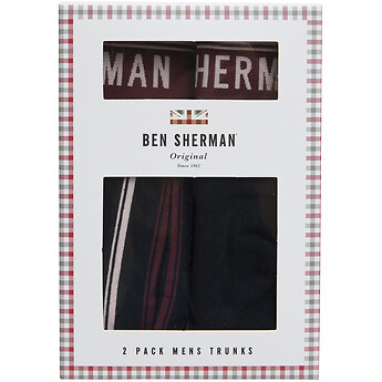 Image of Ben Sherman Australia  BOLTON 2 PACK TRUNKS