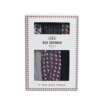 Image of Ben Sherman Australia  BERTIE 3 PACK TRUNKS