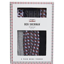 Image of Ben Sherman Australia MULTI GEO BERTIE 3 PACK TRUNKS