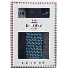 Image of Ben Sherman Australia TURQ/NAVY BISHOP 3 PACK TRUNKS