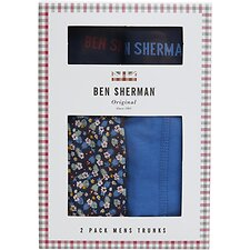 Image of Ben Sherman Australia  BLAIR 2 PACK TRUNKS