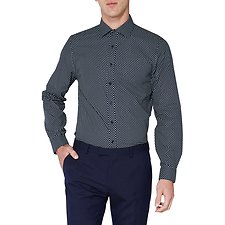 Image of Ben Sherman Australia STAPLES NAVY SPOT PRINT KINGS SHIRT