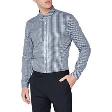 Image of Ben Sherman Australia STAPLES NAVY MOD GINGHAM CAMDEN SHIRT