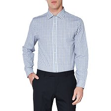 Image of Ben Sherman Australia STAPLES NAVY MULTI CHECK KINGS SHIRT