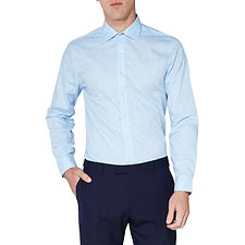 Image of Ben Sherman Australia LIGHT BLUE DOT PRINT KINGS SHIRT