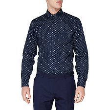 Image of Ben Sherman Australia STAPLES NAVY DOT PRINT KINGS SHIRT