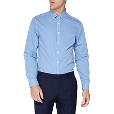 Image of Ben Sherman Australia ROYAL BLUE MICRO GINGHAM CAMDEN SHIRT