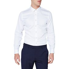 Image of Ben Sherman Australia WHITE DIAMOND DOBBY CAMDEN SHIRT