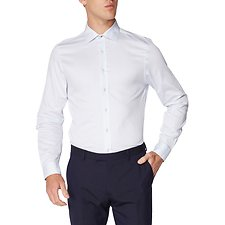 Image of Ben Sherman Australia LIGHT BLUE HERRINGBONE SPOT KINGS SHIRT