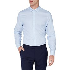 Image of Ben Sherman Australia LIGHT BLUE WINDOW DOBBY KINGS SHIRT