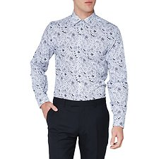 Image of Ben Sherman Australia STAPLES NAVY LARGE FLORAL PRINT CAMDEN SHIRT