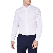 Image of Ben Sherman Australia WHITE STITCH DOBBY KINGS SHIRT