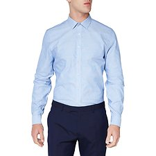 Image of Ben Sherman Australia ROYAL BLUE STITCH DOBBY KINGS SHIRT