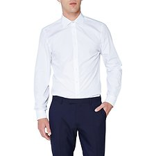 Image of Ben Sherman Australia BRIGHT WHITE DIAMOND GEO DOBBY KINGS SHIRT