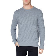 Image of Ben Sherman Australia CHIMNEY MARL BASKETWEAVE CREW KNIT