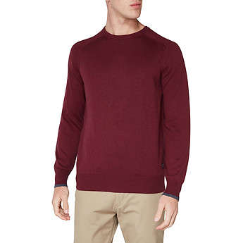Image of Ben Sherman Australia  CREW NECK WITH CUFF TIPPING KNIT