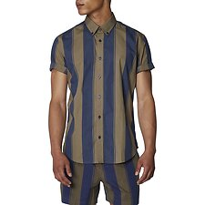 Image of Ben Sherman Australia KHAKI GRAPHIC STRIPE SHIRT