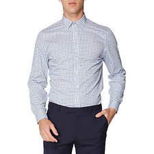Image of Ben Sherman Australia  FORMAL TILE PRINT CAMDEN SHIRT