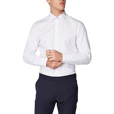 Image of Ben Sherman Australia  FORMAL SQUARE DOT DOBBY KINGS SHIRT