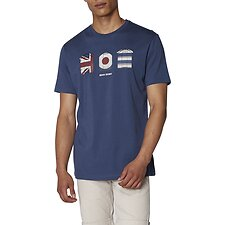 Image of Ben Sherman Australia NAVY 3 HUTS GRAPHIC T-SHIRT