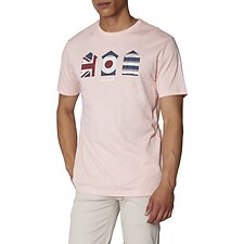 Image of Ben Sherman Australia DUSTY PINK 3 HUTS GRAPHIC T-SHIRT