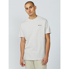 Image of Ben Sherman Australia MOON MARL CHEST EMBROIDERY T-SHIRT