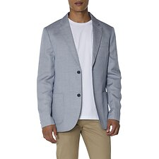 Image of Ben Sherman Australia NAVY WHITE TEXTURED LINEN BLEND BLAZER