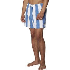 Image of Ben Sherman Australia DUSKY BLUE GRAPHIC STRIPE SHORT
